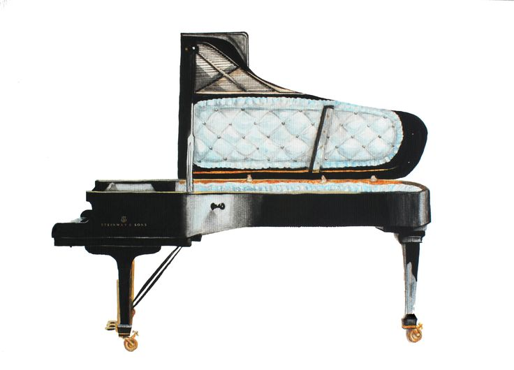 Piano coffin, illustration  by Francisco sad