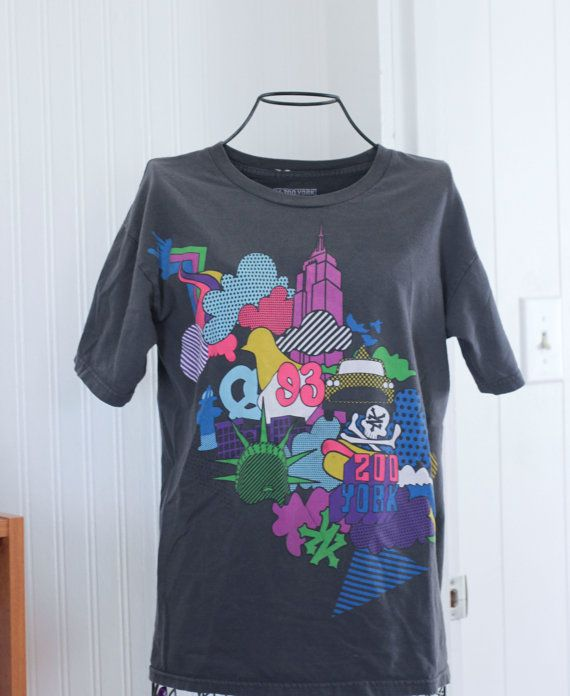 93 Vintage Zoo York T Shirt Ladies Tshirt Size Small Peter Max Style NYC Pop Art Summer Fashion by MollyFinds - a Vesties Team Shop. Find it now at http://ift.tt/1RRZJqi #vestiesteam