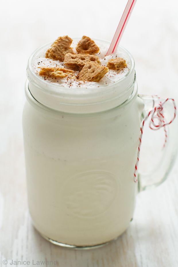 Eggnog milkshake with crumbled graham crackers | kitchen heals soul
