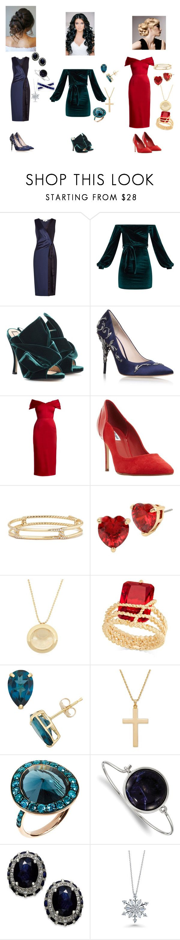 """""""Get ready with me christmas party"""" by kellykalymnoskd on Polyvore featuring Diane Von Furstenberg, N°21, Ralph & Russo, Emilio De La Morena, Dune, David Yurman, Betsey Johnson, Charter Club, Annoushka and 1928"""