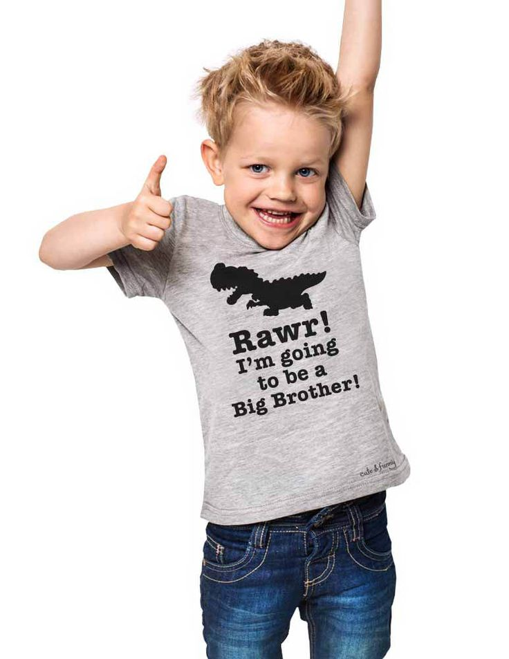 Rawr! I'm going to be a Big Brother - cute & funny Dino T Rex Dinosaur Toddler Shirt surprise Baby birth pregnancy announcement