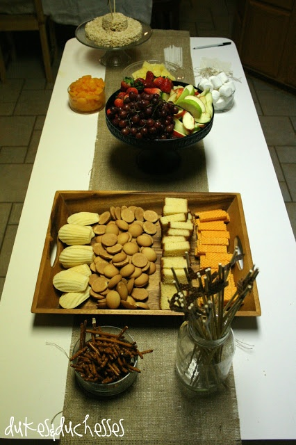 Fondue party - what a fun birthday idea from Dukes and Duchesses