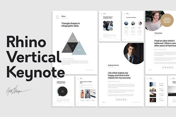 Rhino Vertical Keynote Template by GoaShape on @creativemarket