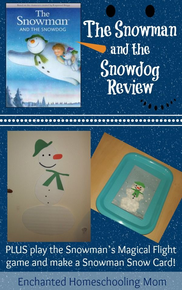 The Snowman and the Snowdog Review and Fun! {PLUS giveaway!!} - Enchanted Homeschooling Mom #giveaway
