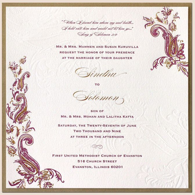 Indian Wedding Card Ideas