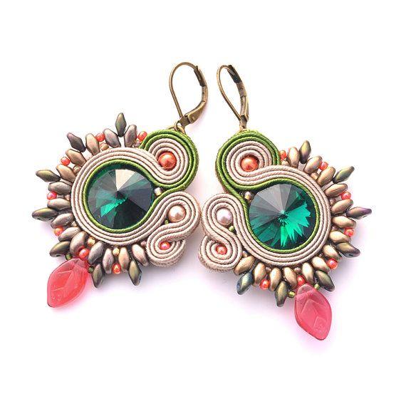 Soutache earrings casual jewelry soutache by PikLusSoutache