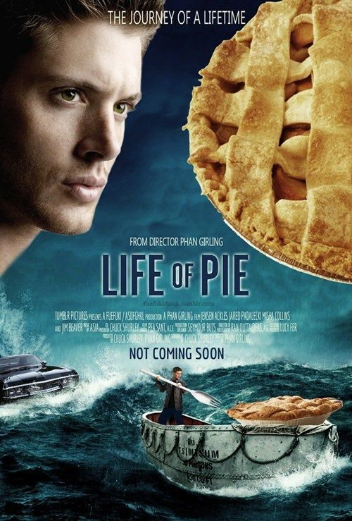 'The Life of Pie' starring Dean Winchester, Sam Winchester, Bobby Singer, and Castiel. Directed by Phan Gurling. Written by Chuck Shurley. Produced by Lucy Fer.