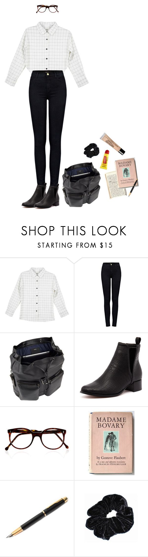 """""""Intern"""" by owlenstar on Polyvore featuring J Brand, Therapy, Cutler and Gross, Carmex, Fountain and philosophy"""