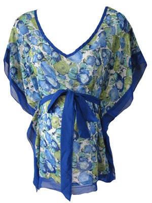 Shantel Top in Blue Floral by Blind Trust Maternity - Maternity Clothing - Flybelly Maternity Clothing