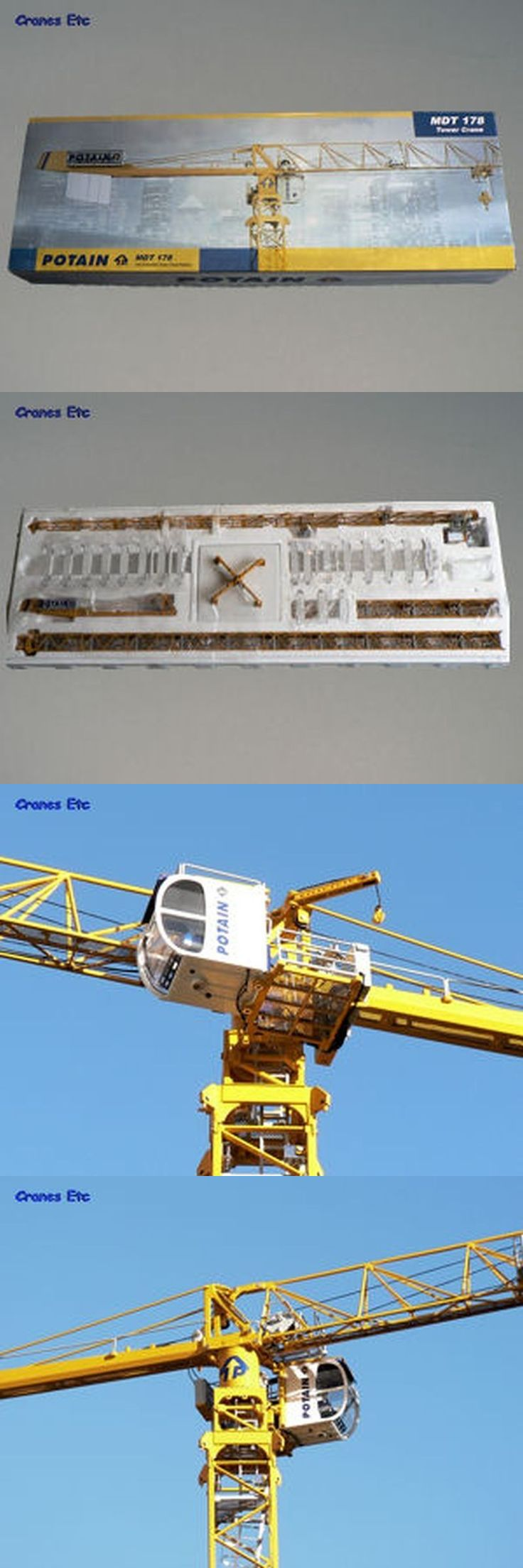 Contemporary Manufacture 152934: Potain Mdt 178 Tower Crane Twh Collectible Model # 047 Mib ** -> BUY IT NOW ONLY: $549.99 on eBay!