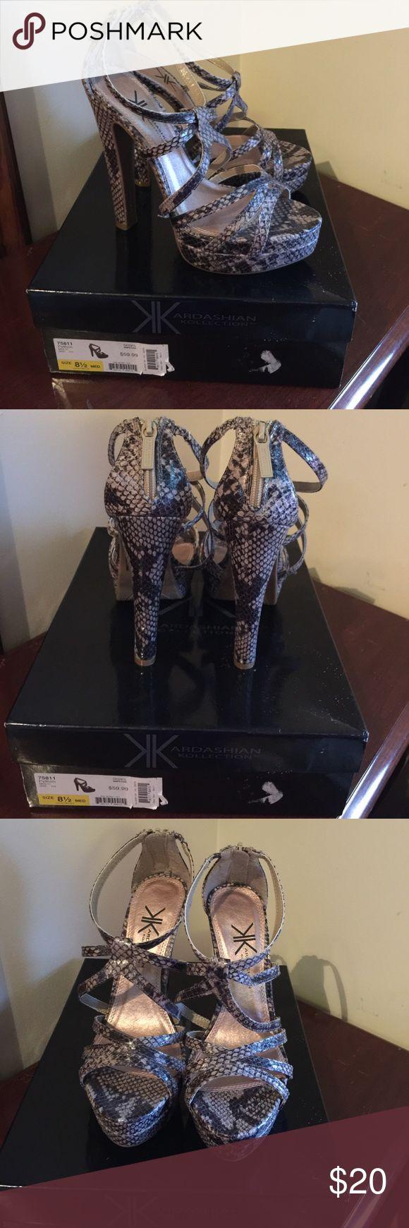 Kardashian Kollection shoes sz 8.5 NWT Kardashian Kollection shoes sz 8.5 NWT never used. They need a new home. Kardashian Kollection Shoes Heels