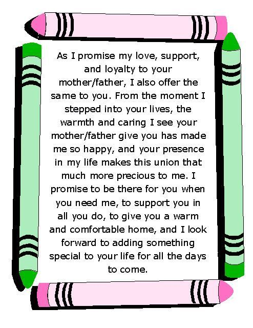 Blended Family Wedding Vows Best Photos