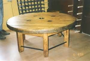 Cable reel table Large Wooden Spools Pinterest, Large Wooden Spool ...
