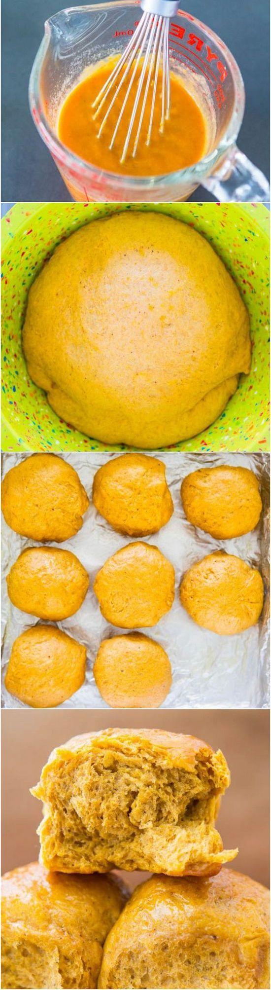 Honey Butter Pumpkin Dinner Rolls | Foodboum