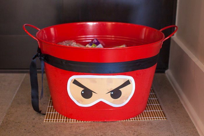 Ninja Drink Bin from a Japanese Inspired Ninja Party via Kara's Party Ideas KarasPartyIdeas.com (43)