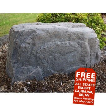 New DekoRRa fake rocks designed to cover cable boxes and water well pumps.  Cool!