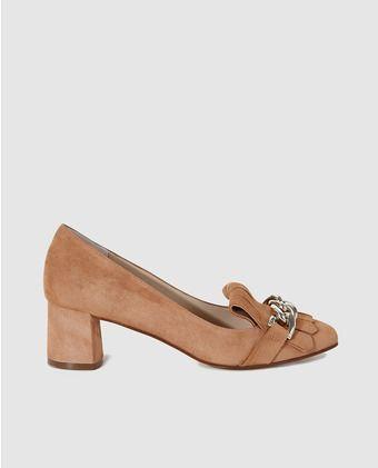 Zapatos de salón de mujer Gloria Ortiz de piel marrón