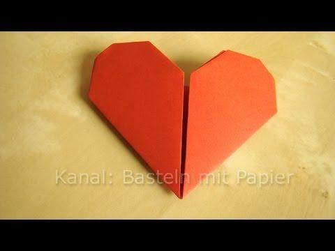 Herz Falten - Anleitung für Origami Herz z.B. Valentinstag Geschenk