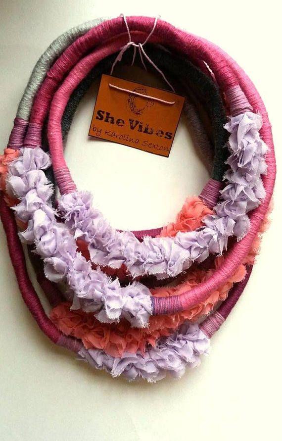 Unique/ Yarn Wrapped Necklace/ Street fashion/ Eye catcher/