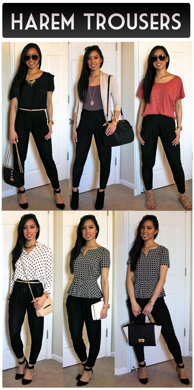Black dress pants outfit for women