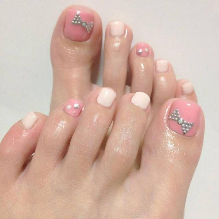 Simple Nail Art On Foot: Diseños De Uñas Pies, Arte De Uñas De Pies Y