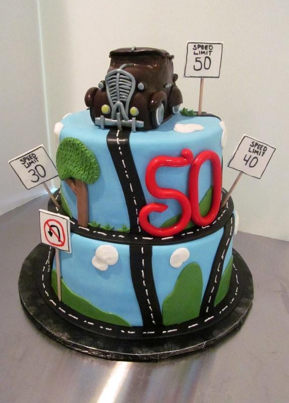 50th Birthday Cake #cake #carcake #malecake #malebirthdaycake #overthehillcake