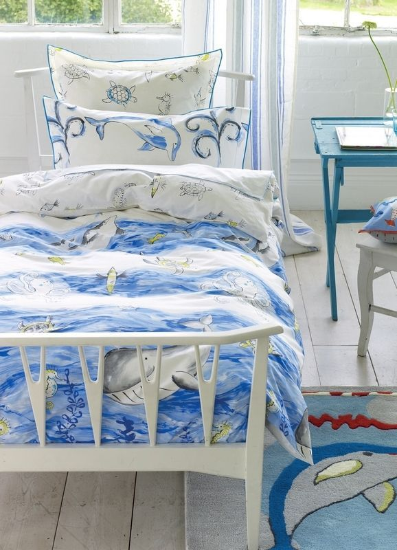 Housse de couette Whale of a Time 140x200 - Designers Guild