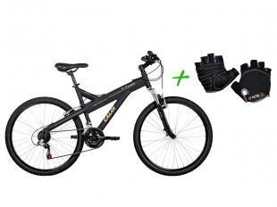 Bicicleta Caloi T-Type Mountain Bike Aro 26 - 21 Marchas Freio V-Brake + Luva G