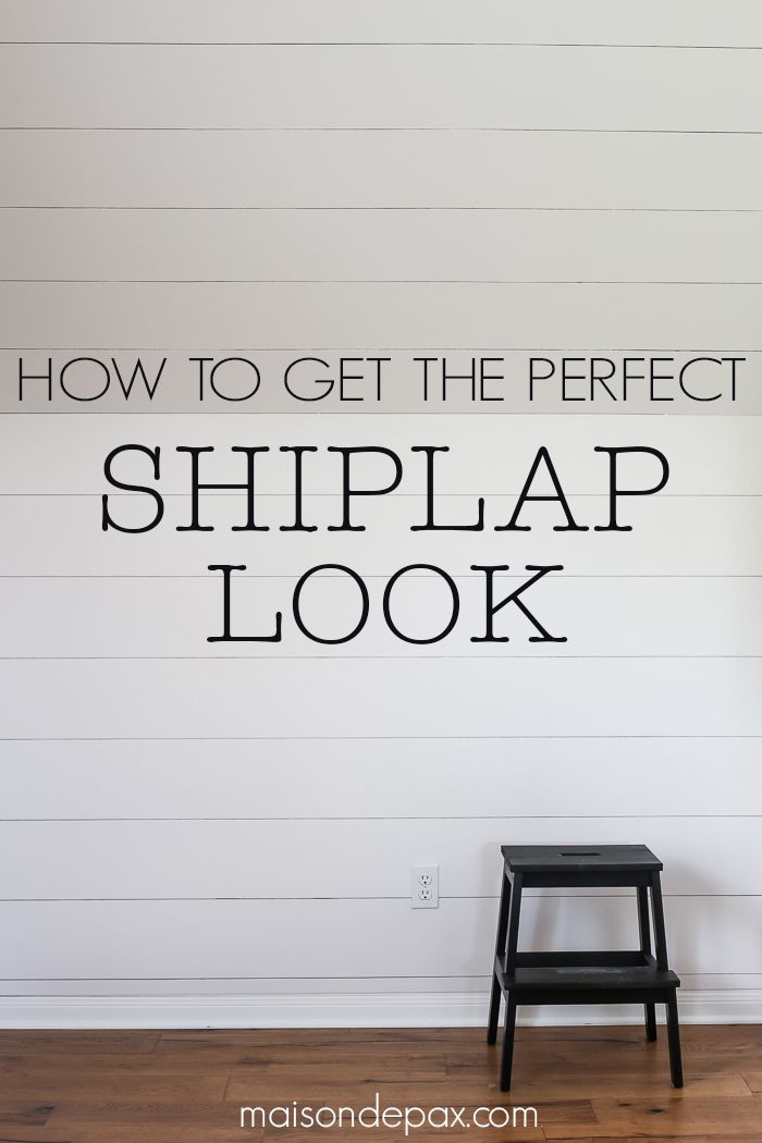How to plank a wall: tutorial and tips for creating a farmhouse feel with DIY shiplap look walls. Step by step pictures to guide you!