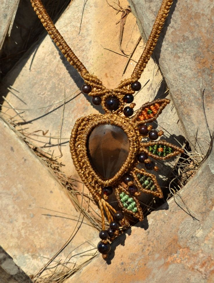 104 Best Images About Macrame Gemstone Necklaces On