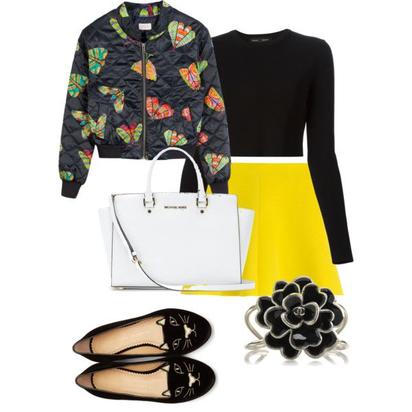 A fashion look from February 2015 featuring Proenza Schouler sweaters, RED Valentino skirts and Charlotte Olympia flats. Browse and shop related looks.
