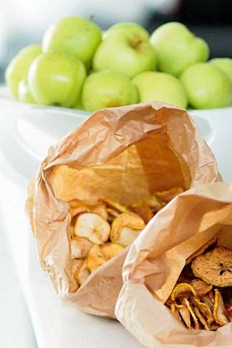Kuivatut omenalastut ovat täydellinen herkku - katso helppo ohje - Hyvä olo…
