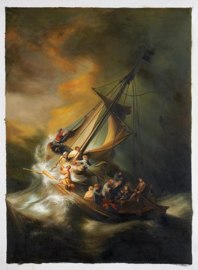 Rembrandt, Christus op het meer van Galilea. 1633, 160*127 cm.