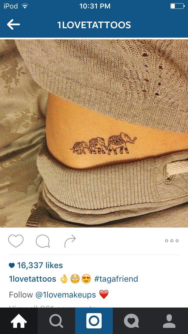 Cute elephant tattoo                                                                                                                                                                                 More