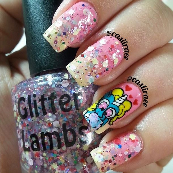 Cotton Candy Satin Fingernail Polish: 23 Best Images About Unicorns Love Cotton Candy Nail