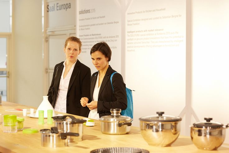 Functional innovations by Exhibitors. Solutions presents smart solutions for everyday kitchen and household problems. Products selected by Sebastian Bergne.