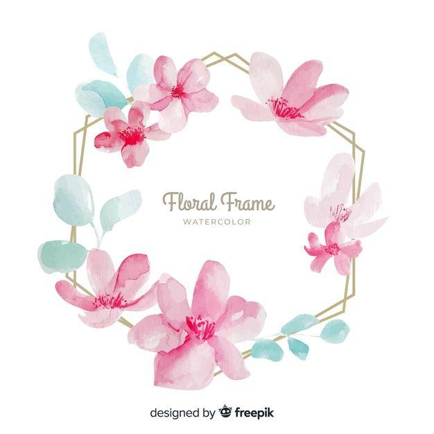 Telechargez Fond De Cadre Floral Aquarelle Gratuitement Fond