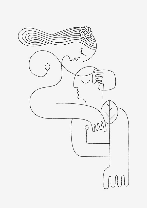 Simple Line Artwork : Superflat on flipboard lineart pinterest dessin