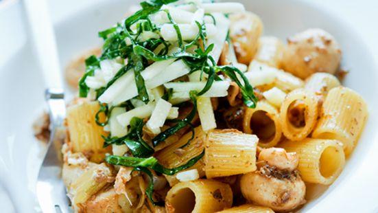 Pasta med svamp & kronärtskocka