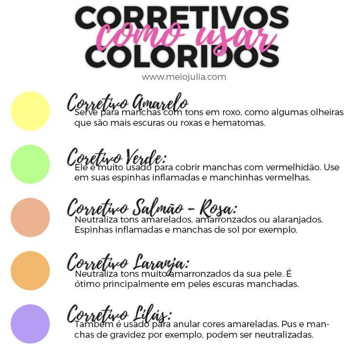Aprenda como usar os corretivos coloridos na maquiagem para uma pele perfeita e mais dicas sobre suas funções.