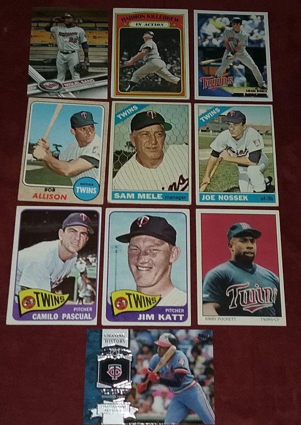10 Minnesota Twins Baseball Cards Lot Harmon Killebrew Kirby Pucket Rod Carew #MinnesotaTwins