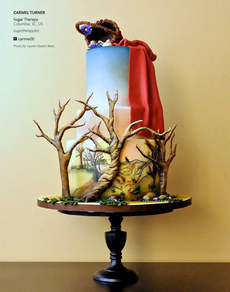 Little Red Riding Hood Fairytale Cake 3 -  Detail | Cake Central Magazine | Volume 4 Issue 10 - October 2013