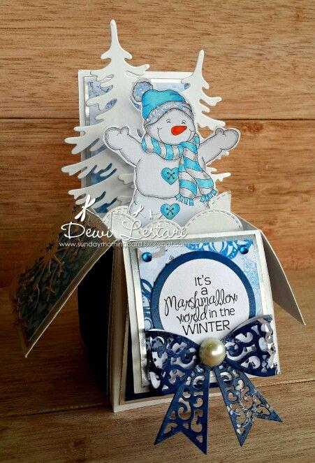 Creatalicious Winter Challenge Jan 15th 2015 #cardinabox #handmade