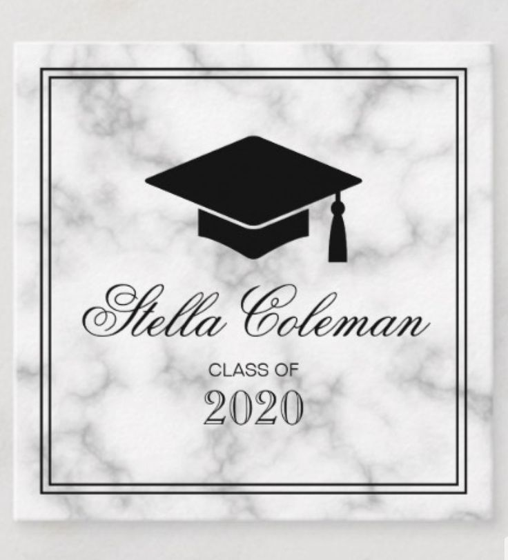elegant graduate graduation marble name card  zazzle