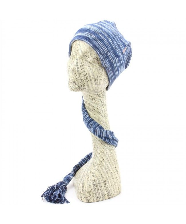 LOUDelephant 'Tinky Winky' cotton knit tail hat - Blue Space Dye (One Size)