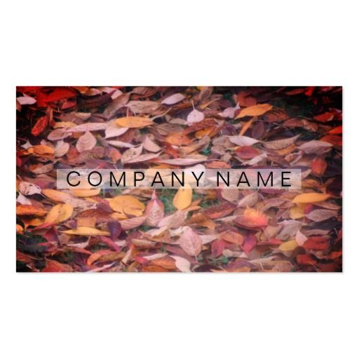 Rustic Leaves Business Card