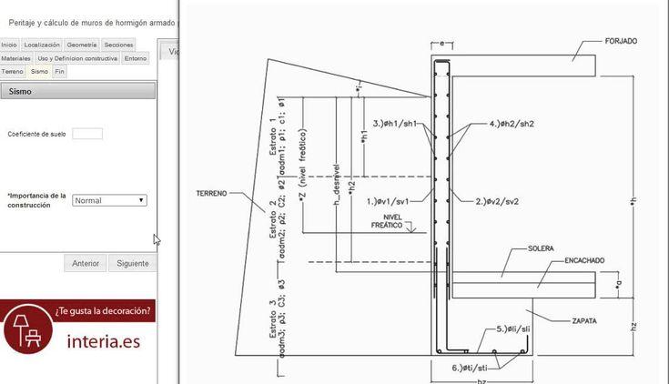 tutorial para el c u00e1lculo de  muros de  sotano de hormig u00f3n mediante la herramienta online e