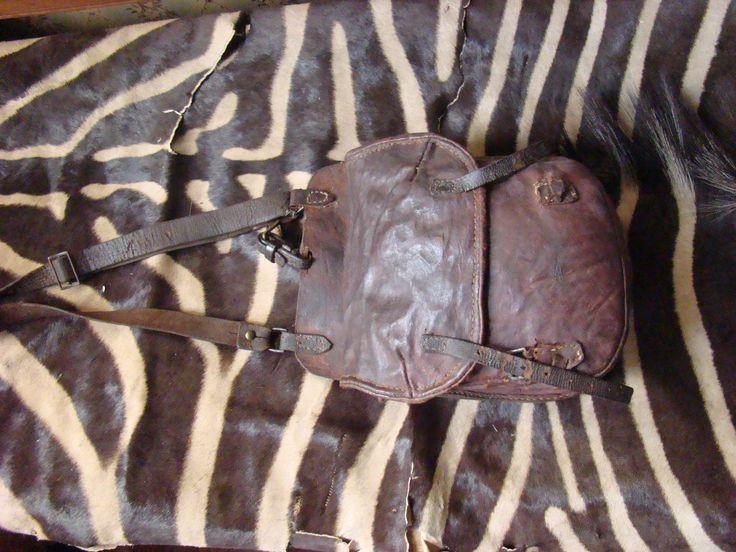Leather satchel that belonged to Andries Pretorius
