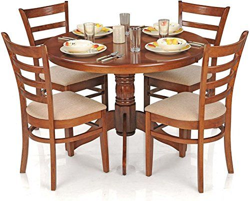 Royal Oak Coco Dining Table Set With 4 Chairs (Brown)   Best Home And