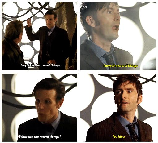 I think tennant and smith were just two doctors who went full fanboy in this moment